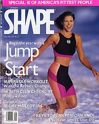 January 1991 Shape magazine Sabine Ehrenfeld Cover